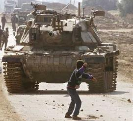 boy vs tank: No amount of martial arts training can help this young lad.